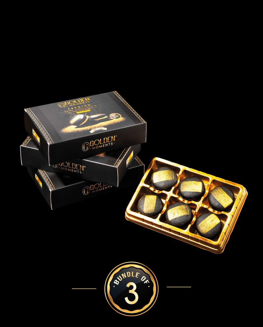 Premium Dark Chocolate Mao Shan Wang Macaron - Bundle of 3