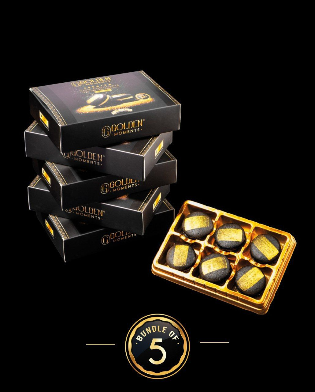 Premium Dark Chocolate Mao Shan Wang Macaron - Bundle of 5