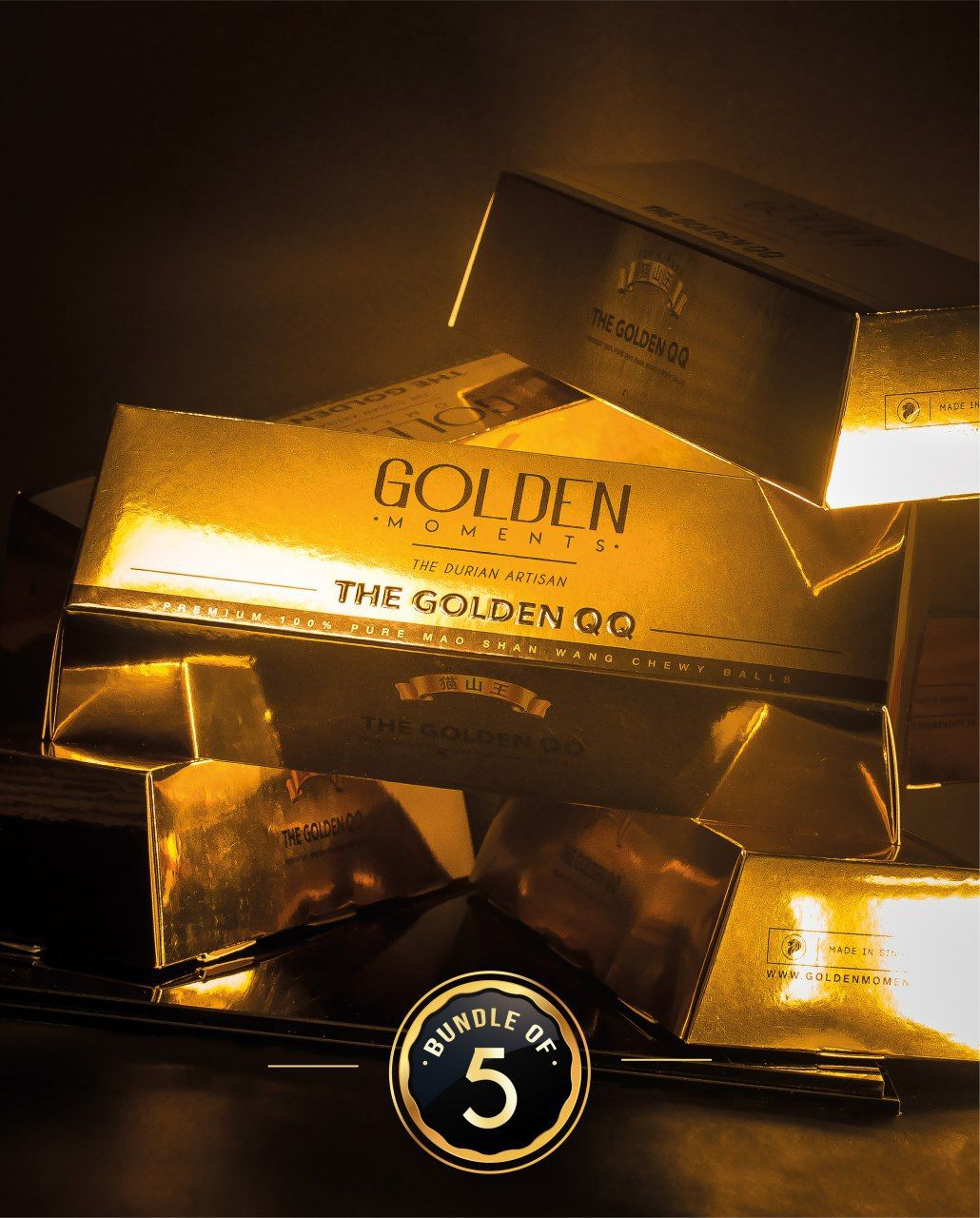 The Golden QQ - Bundle of 5 (12 pieces / box)