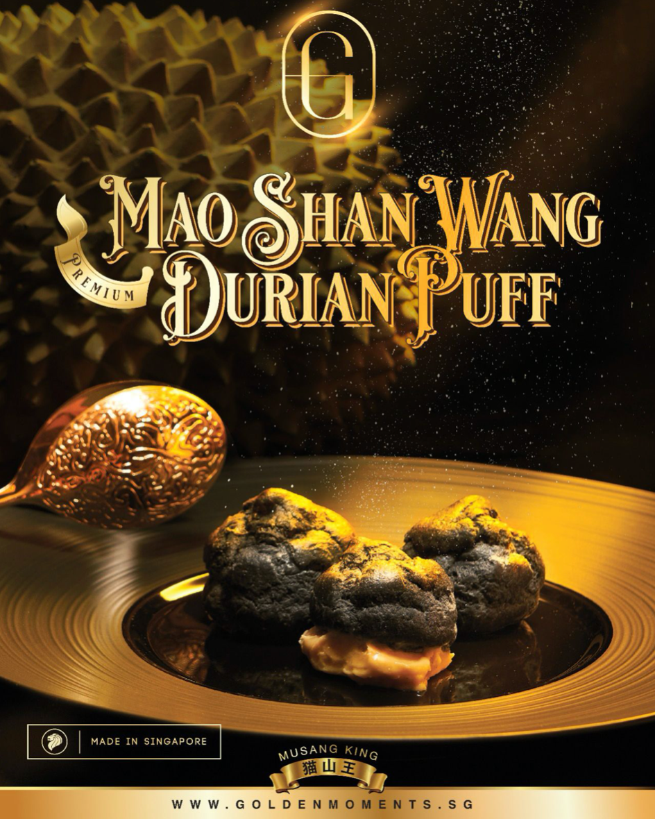 Premium Mao Shan Wang Durian Puff (Box of 4 pieces)