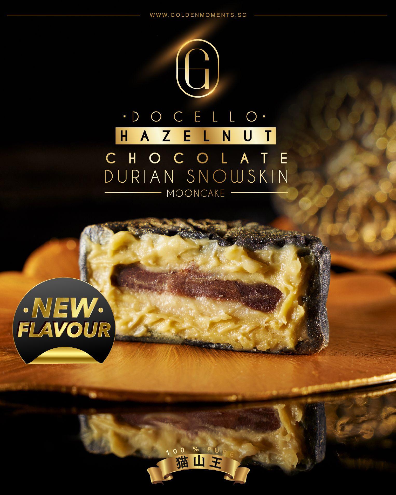 [1 FOR 1] Docello Hazelnut Chocolate Mao Shan Wang Snowskin Mooncake (Box of 4) !!*EXTENDED PROMO*!!