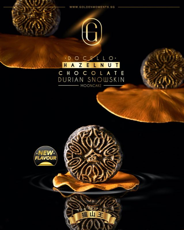 [1 FOR 1] Docello Hazelnut Chocolate MSW Snowskin Mooncake (Box of 4) + Premium Lychee Martini Snowskin Mooncake (Box of 4)