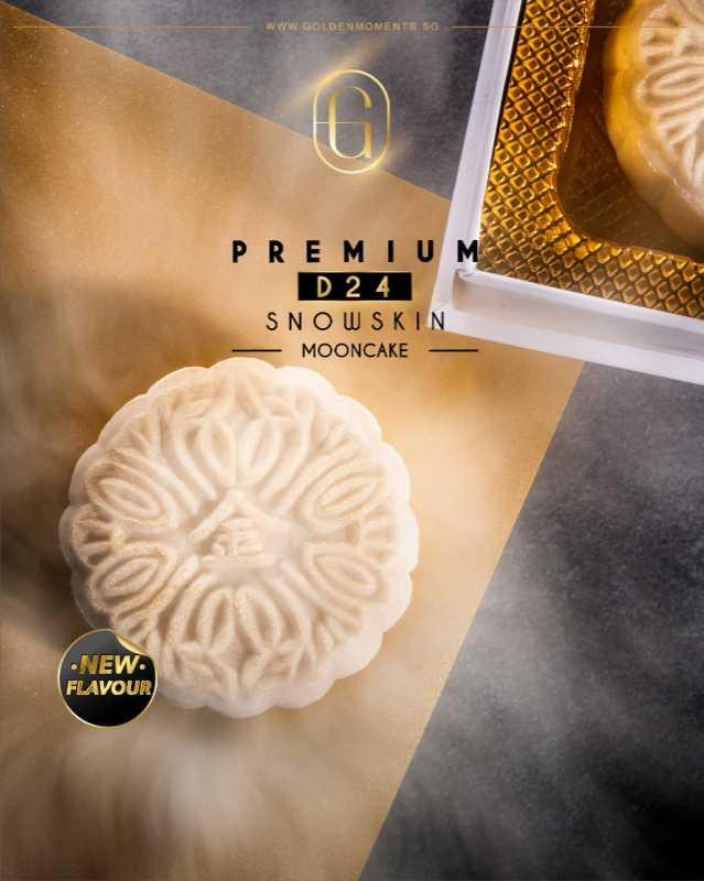 Premium D24 Snowskin Mooncake (Box of 4) Bundle of 3