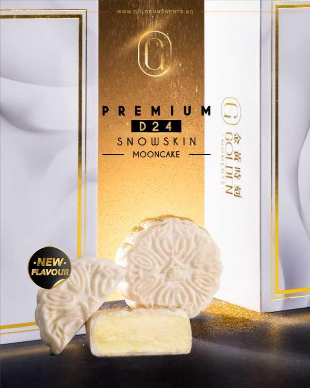Premium D24 Snowskin Mooncake (Box of 4) Bundle of 5